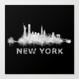 new york nyc city cityscape watercolor white v6 Canvas Print