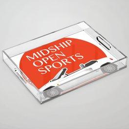 Midship Open Sports Acrylic Tray
