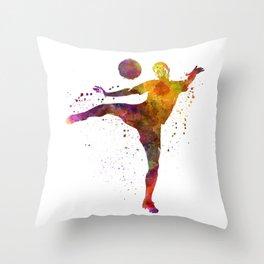 man soccer football player 07 Throw Pillow