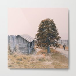 The cabin and the tree Metal Print