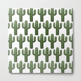Cacti Pattern Metal Print