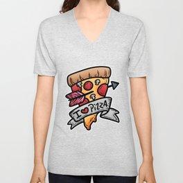 Pizza Italy kitchen baking salami cheese gift Unisex V-Neck