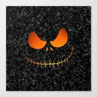 jack skellington Canvas Prints featuring Jack Skellington Nightmare by neutrone