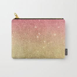 Pink abstract gold ombre glitter Carry-All Pouch