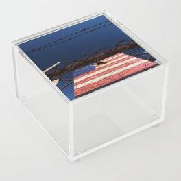 have you got a flag ? usa stars and stripes tile Acrylic Box