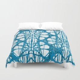 Blue and White Batik  Duvet Cover