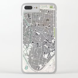 Plan of Brussels - 1837 Clear iPhone Case