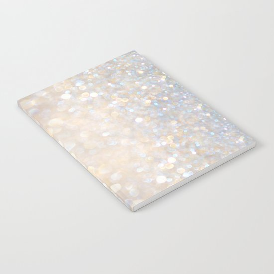 Glimmer of Light II (Ombré Glitter Abstract*) Notebook
