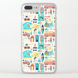 Surfer Girls Clear iPhone Case