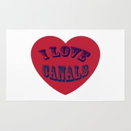 I love canals heart Rug