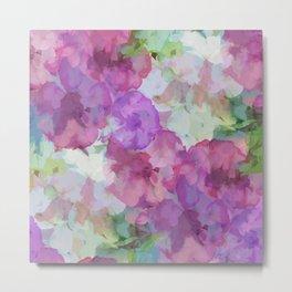 Sweet Peas Floral Abstract Metal Print