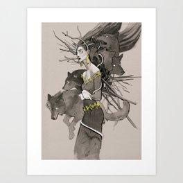 Forest call Art Print