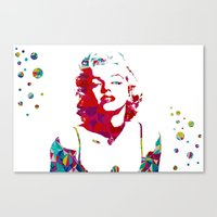 monroe Canvas Prints featuring MONROE by Bianca Lopomo
