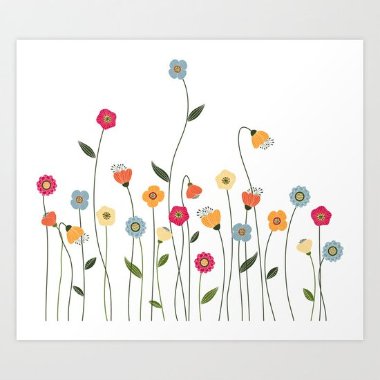 A Walk in the Countryside Art Print