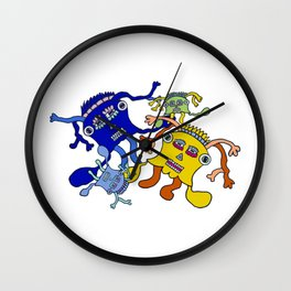 Incantation: a colorful dance to attract positive waves ! Wall Clock