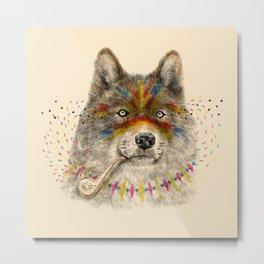 Cherokee Wolf Metal Print