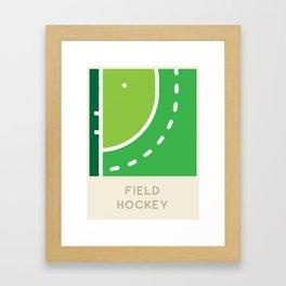 Field Hockey (Sports Surfaces Series, No. 9) Framed Art Print