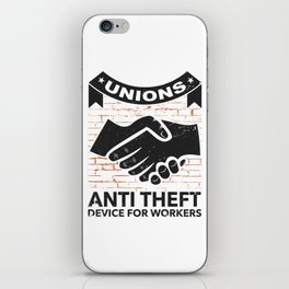 Labor Union of America Pro Union Worker Protest Light iPhone Skin