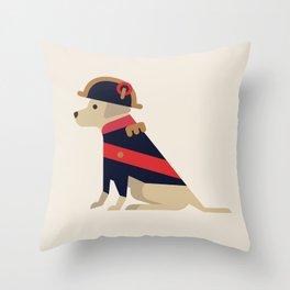 Napoleon, dog emperor Throw Pillow