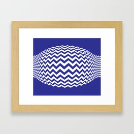 BLUE LINES Abstract Art Framed Art Print