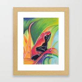 Poisionous red  Framed Art Print