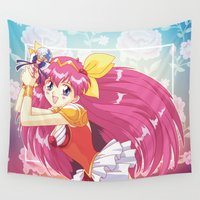 wedding Wall Tapestries featuring Wedding Peach by Neo Crystal Tokyo