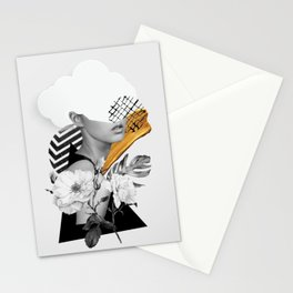 collage art (girl) Stationery Cards