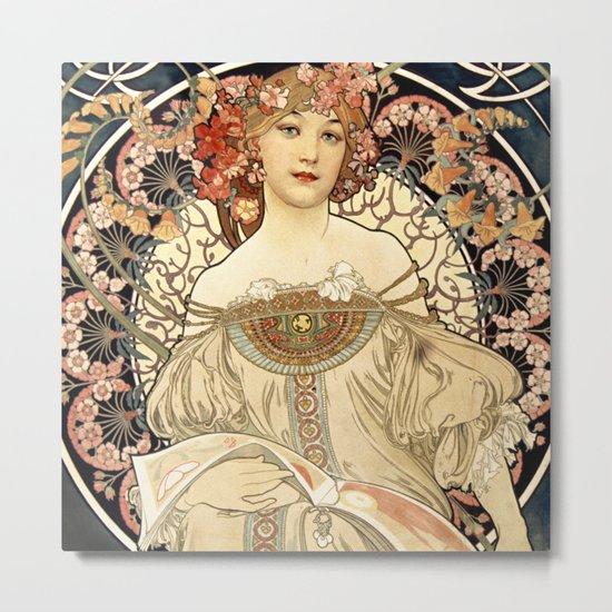 Art Nouveau Metal Print