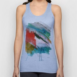 Happiness - a bright abstract piece Unisex Tank Top