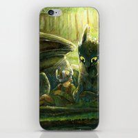hiccup iPhone & iPod Skins featuring Hiccup and Toothless by PuppyChowArts