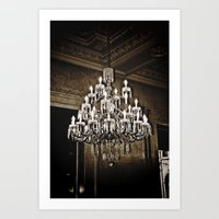 chandelier Art Prints featuring chandelier  by Ammar ZABOUN