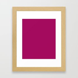 Jazzberry Jam - solid color Framed Art Print