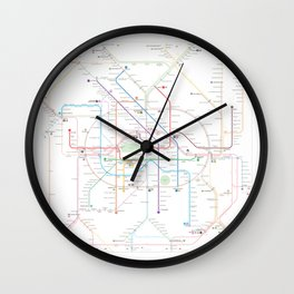 Germany Berlin Metro Bus U-bahn S-bahn map Wall Clock