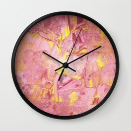 Pink and Gold Paint Wall Clock