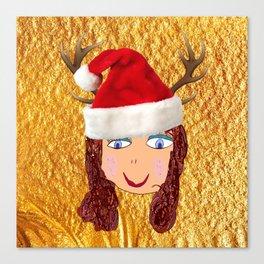 Gold Christmas | Kids Painting | Christmas Spirit Canvas Print