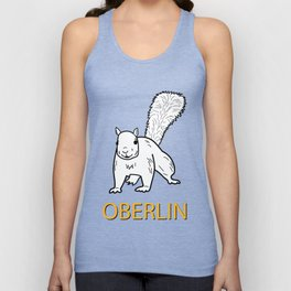 Cute Oberlin White Squirrel Illustration Unisex Tank Top