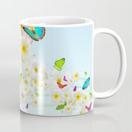 Plumeria Butterflies Coffee Mug