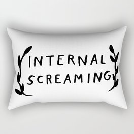Internal screaming Rectangular Pillow