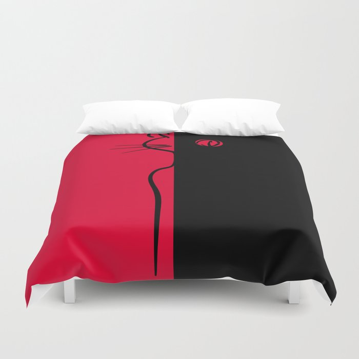 The Black Cat ~ From Sinners And Saints ~ Bohème Duvet Cover