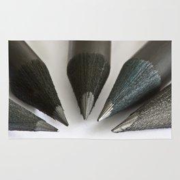 Black Pencils Rug