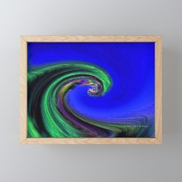 """Night Wave"" Photograph Framed Mini Art Print"