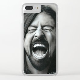 'Grohl In Black III' Clear iPhone Case