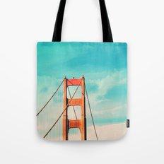 Retro Golden Gate - San Francisco, California Tote Bag