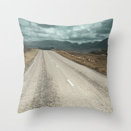 The Road Up in the Mountains Throw Pillow
