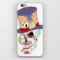 steam punk iPhone & iPod Skins featuring Steam Punk Sugar Skull by J&C Creations