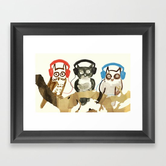 Forest Beats Framed Art Print