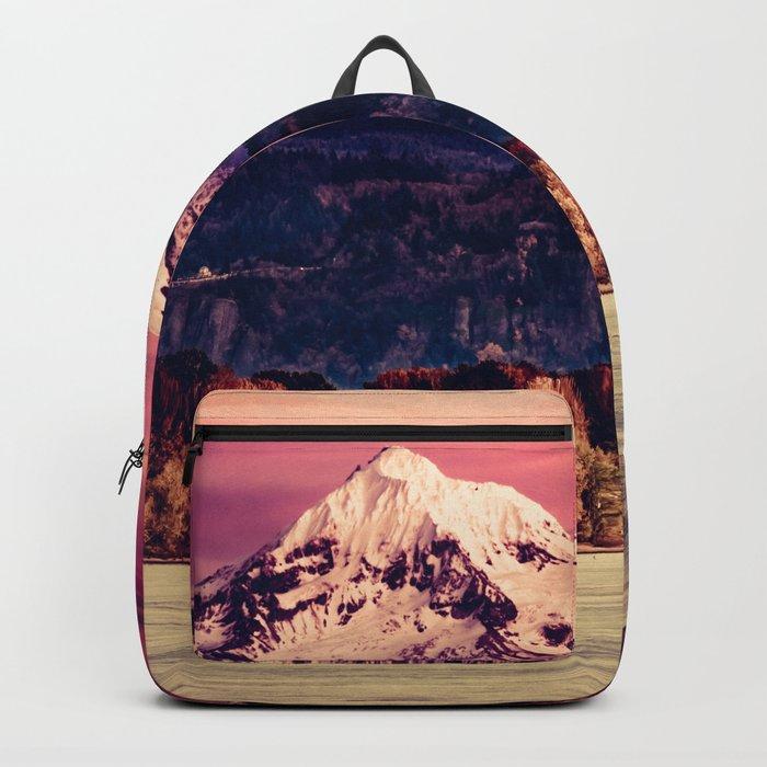 Mt Hood on Columbia River Backpack