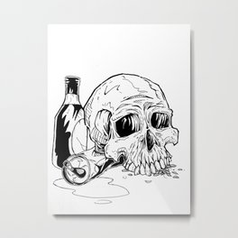 Skull Abuse  Metal Print