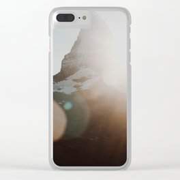 Matterhorn glow.. Clear iPhone Case