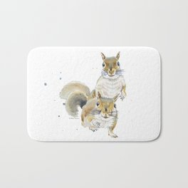 Two Squirrels Bath Mat
